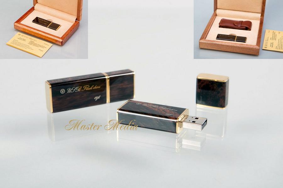 Подарочная Флеш-память USB 2.0 в деревянной упаковке